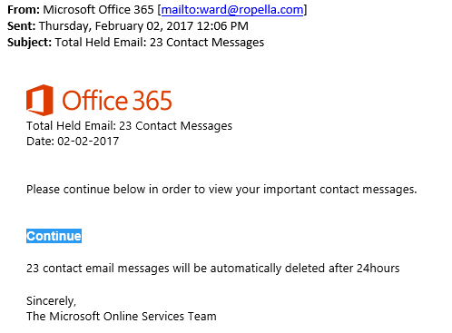 Ccex Alert New Office 365 Phishing Scam Ccex